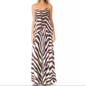 Mara Hoffman Zebra Maxi Dress size XS NWT